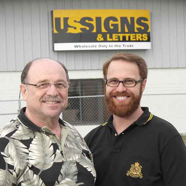 US Signs and Letters Founder and President Together